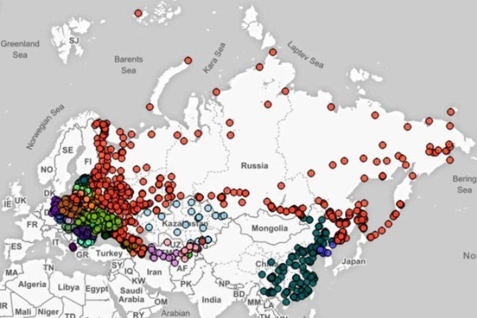 Stulbinantys padariniai žemėlapis parodo pavojingiausių taikinių