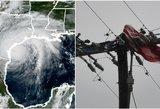 Pasaulis stebi su siaubu dešimtmečio katastrofą Amerikoje: griausmingas uraganas šluoja viską savo kelyje