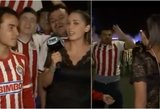 Reporterę grabaliojęs futbolo sirgalius sulaukė atpildo: įtūžis liejosi per kraštus