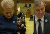 """Minint Laisvės gynėjų dieną Seimo salėje aidėjo šūksniai: """"Gėda, gėda"""""""