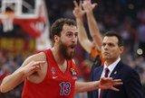 Ispanų matadoras pakartojo tritaškių rekordą ir nukalė eilinę CSKA pergalę Eurolygoje
