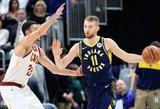 """Sabonis – rezultatyviausias mačo žaidėjas, """"Pacers"""" suklupo paskutinę akimirką"""