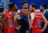 """CSKA ir """"Olympiakos"""" sulaukė bausmių dėl finansinių nusižengimų"""
