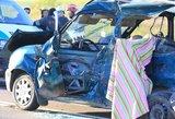 Kruvina avarija: įvykio vietoje žuvo pareigūnas
