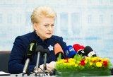 """Dalia Grybauskaitė ragina Vyriausybę prieš rinkimus nenuslysti į """"populizmo liūną"""""""