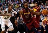 """Fenomenalaus LeBrono pasirodymo neužteko: """"Celtics"""" įpusėjo kelionę finalo link"""