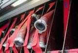 Žemaitijoje gaisras sunaikino 15 sandėliukų