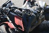 Per siaubingą avariją Vilniaus rajone motociklininkas rėžėsi į pakelės medžius
