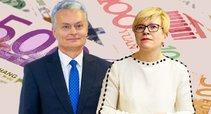 Gitanas Nausėda. Ingrida Šimonytė (tv3.lt fotomontažas)