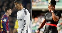 C. Ronaldo, L. Messi ir S. Williams (tv3.lt fotomontažas)