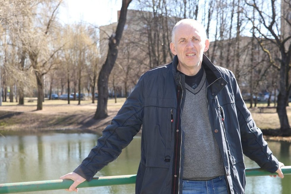 Buvęs krepšininkas ir treneris Rolandas Čėsna išmoko gyventi su liga. (Sigitos Inčiūrienės nuotr.)