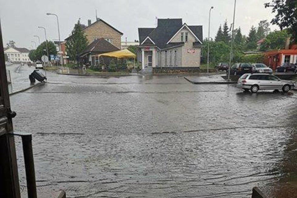 sinoptikai pasidalino lietaus nuotrauka