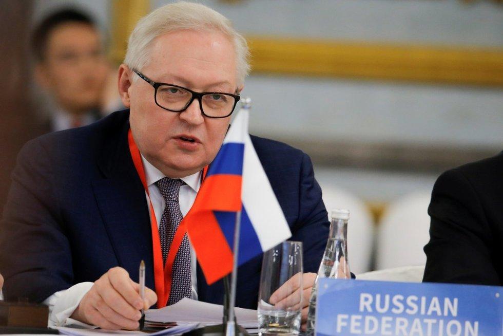 Rusijos užsienio reikalų viceministras Sergejus Riabkovas (nuotr. SCANPIX)