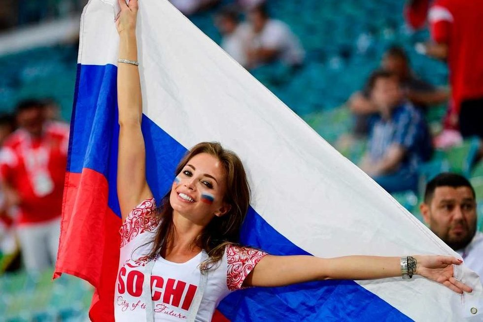 Rusijos futbolo sirgalė (nuotr. SCANPIX)