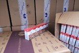 Sulaikytas 20 tūkst. pakelių cigarečių gabenęs baltarusis