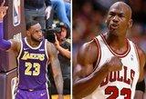 Istoriją perrašiusiam LeBronui – legendinio Jordano sveikinimai