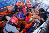 Italija grasina grąžinti migrantus į Libija