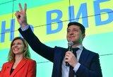 Ukrainoje, suskaičiavus beveik visus balsus, triuškinančiai laimi Zelenkis