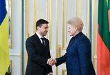 Zelenskis susitikime su prezidente: Grybauskaitė yra tikra ir patikima Ukrainos draugė