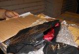Patikrinę krovinį vietoje pirties muilo muitininkai rado kaljano tabako