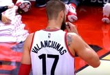 NBA lygos rungtynėse Jonas Valančiūnas į varžovų krepšį įmetė tik 9 taškus