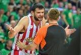 """Rungtynių nebaigusiems Pirėjo """"Olympiacos"""" – maksimali įmanoma bausmė"""