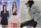 Soc. tinklų žvaigždė vilkėjo A. Kuzmickaitės kurta suknele: papuošė populiaraus žurnalo viršelį