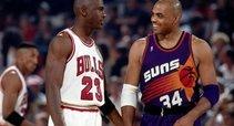 Michaelas Jordanas ir Charlesas Barkley (AP Photo nuotr.)