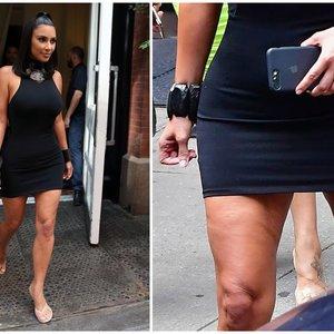 Garsenybės irgi žmonės: Kardashian nepavyko užmaskuoti vienos detalės
