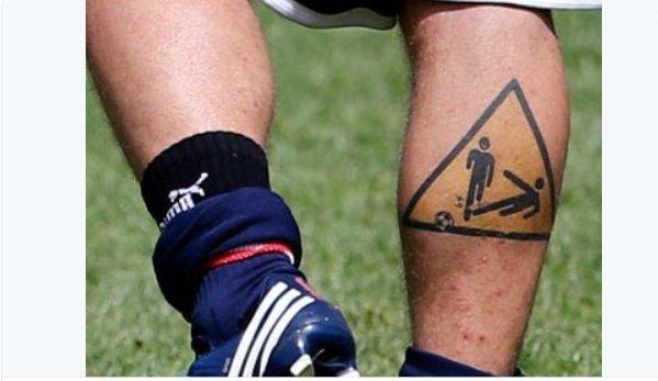 D. De Rossi tatuiruotė (nuotr. Twitter)