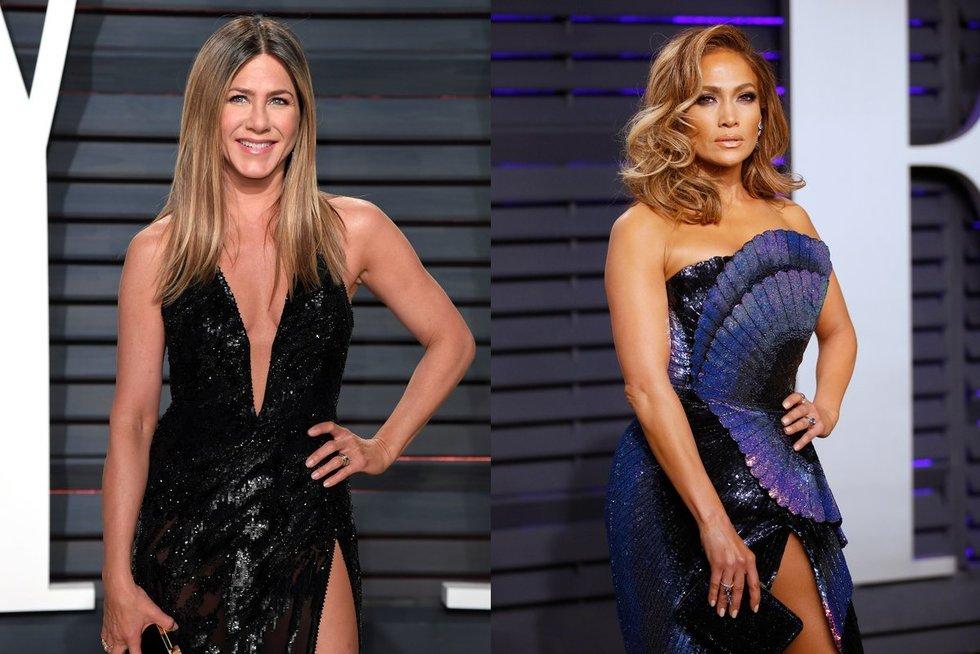 Jennifer Aniston ir Jennifer Lopez (nuotr. SCANPIX)