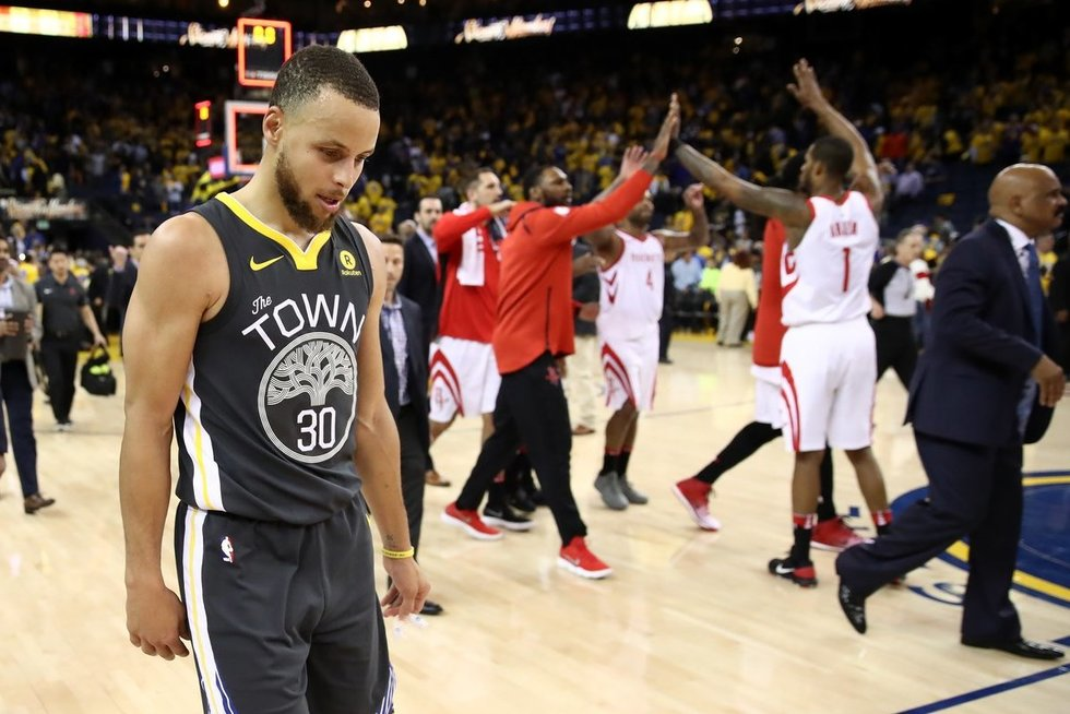 """Golden State Warriors"" – Hjustono ""Rockets"" 92:95 (nuotr. SCANPIX)"