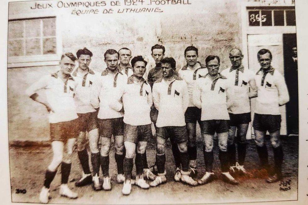 1924 m. Lietuvos futbolo rinktinė (nuotr. TOK)