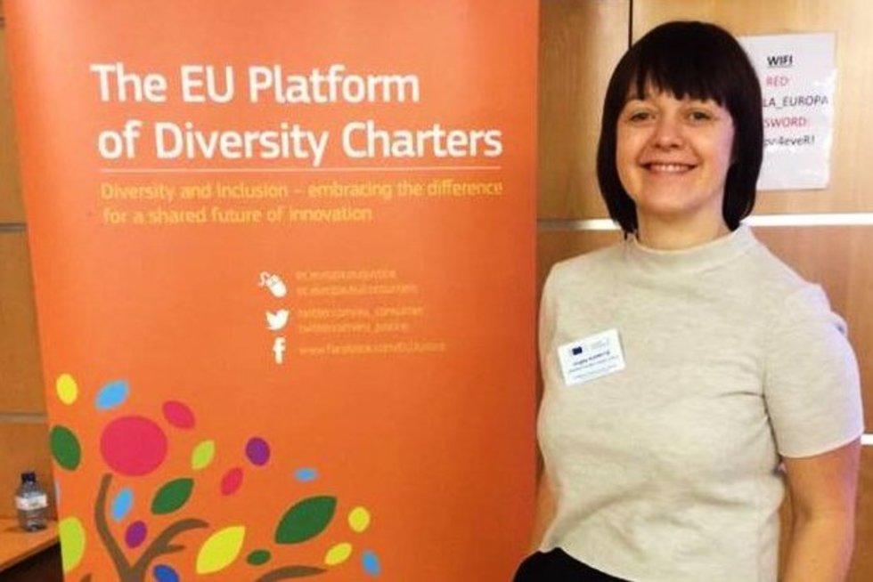 Jurgita Kuprytė skaitė pranešimą ES Įvairovės chartijų platformos susitikime (nuotr. asm. archyvo)