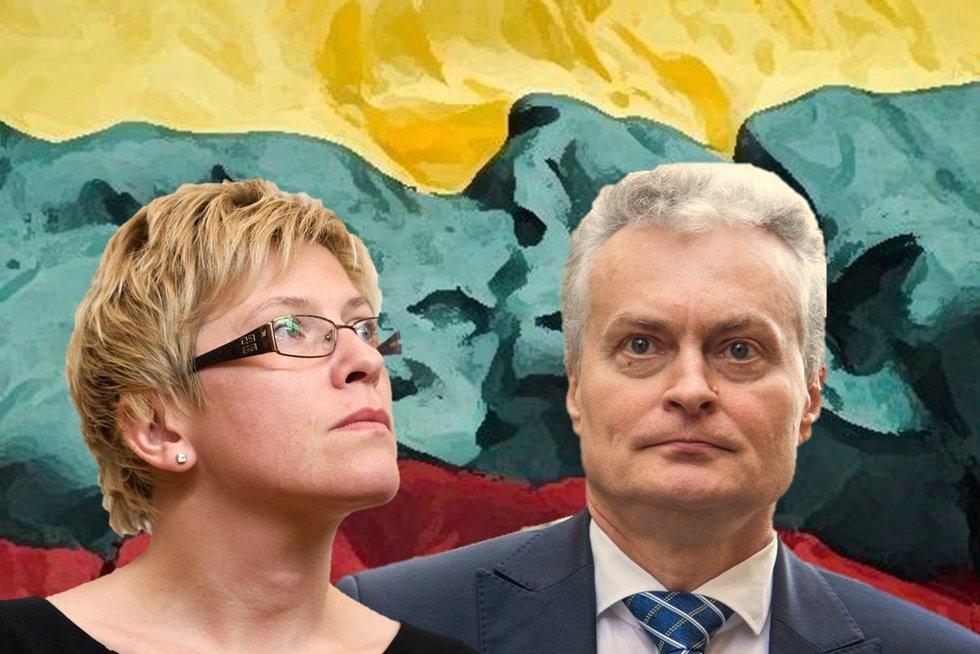Ingrida Šimonytė ir Gitanas Nausėda (tv3.lt fotomontažas)