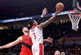 NBA naktis: trigubas dublis ir pusšimtis taškų