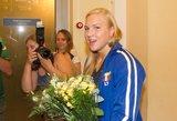 Į Lietuvą grįžusi Rūta Meilutytė nepanoro rodyti sidabro medalio
