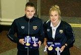 Į Lietuvą grįžo Europos čempionate spindėję Rūta Meilutytė ir Danas Rapšys