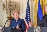 Kremliaus žiniasklaida po Donaldo Trumpo žodžių užsipuolė Lietuvą ir D. Grybauskaitę