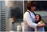 Gaisras Bankoko verslo centre: žmonės bandė gelbėtis šokdami iš ugnies apimto pastato