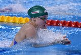Rūta Meilutytė Londono baseine pasiėmė kelialapį į Olimpines žaidynes