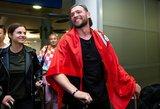 Jurijus sugrįžo į Lietuvą: nuo veido nedingo šypsena