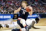 """Nesustabdomas Domantas Sabonis NCAA """"Kovo beprotybėje"""" iškovojo pirmą pergalę"""
