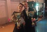 Šokėjai Andrejus Kovalevas ir Veronika Samuolytė tapo Europos čempionato finalininkais