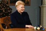 Metų žmogumi gyventojai išrinko Dalią Grybauskaitę