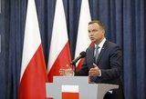 Lenkijos prezidentas nepaklūsta ES: gresia precedento neturinčios sankcijos