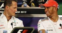 Michaelis Schumacheris ir Lewisas Hamiltonas (nuotr. SCANPIX)