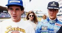 Ayrtonas Senna ir Michaelis Schumacheris (nuotr. motorsport.com)