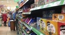 Maisto produktų kainos prekybos centre Lenkijoje (nuotr. Raimundo Maslausko)