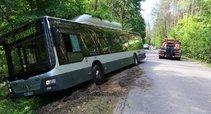 Autobusas vertėsi į griovį (nuotr. tv3.lt)